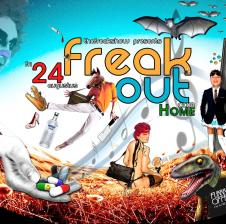 Na Grimmig, Twins en Fear and Loathing in Amsterdam presenteert the Freakshow: Freak Out! op 24-8-2012 in club Home.