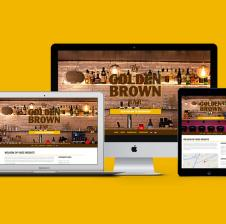 Responsive website voor Golden Brown Bar.