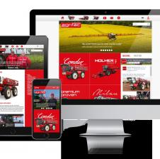 Agrifac machinery Digitaal Enterprise Platform complete oplossing voor internationale organisatie - Multi language - Full responsive - Intern order & service systeem - Exact entity business connector