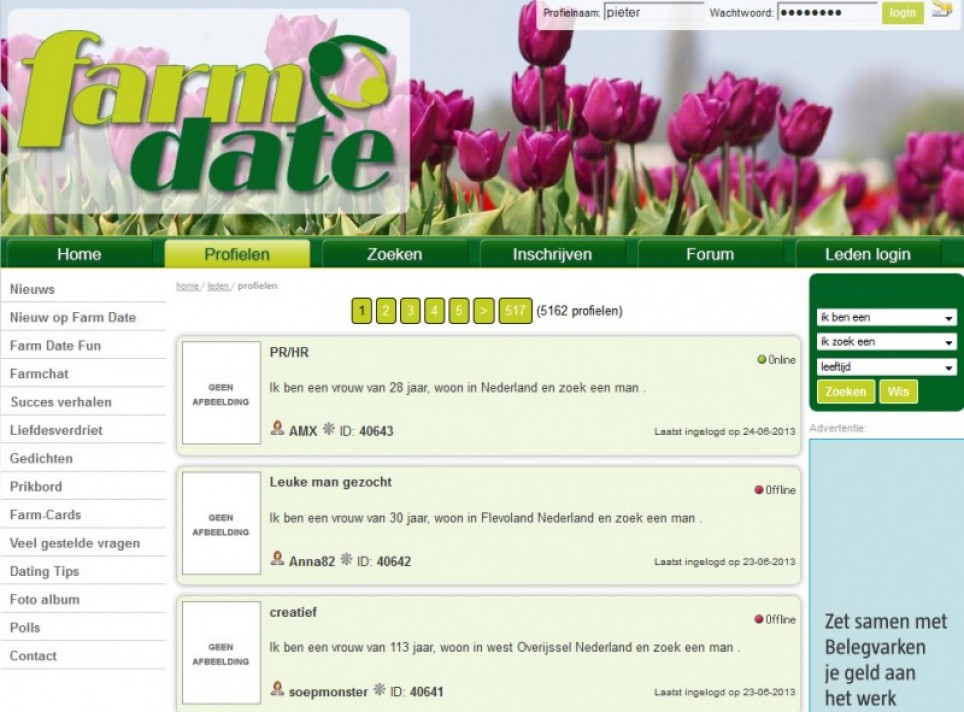 dating site eerste contact