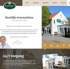 Tweetalige custom made WordPress website voor Bed en Breakfast de Goei Kamers in Deurne